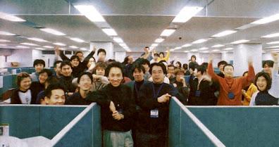 Funcionários da Dimps reunidos