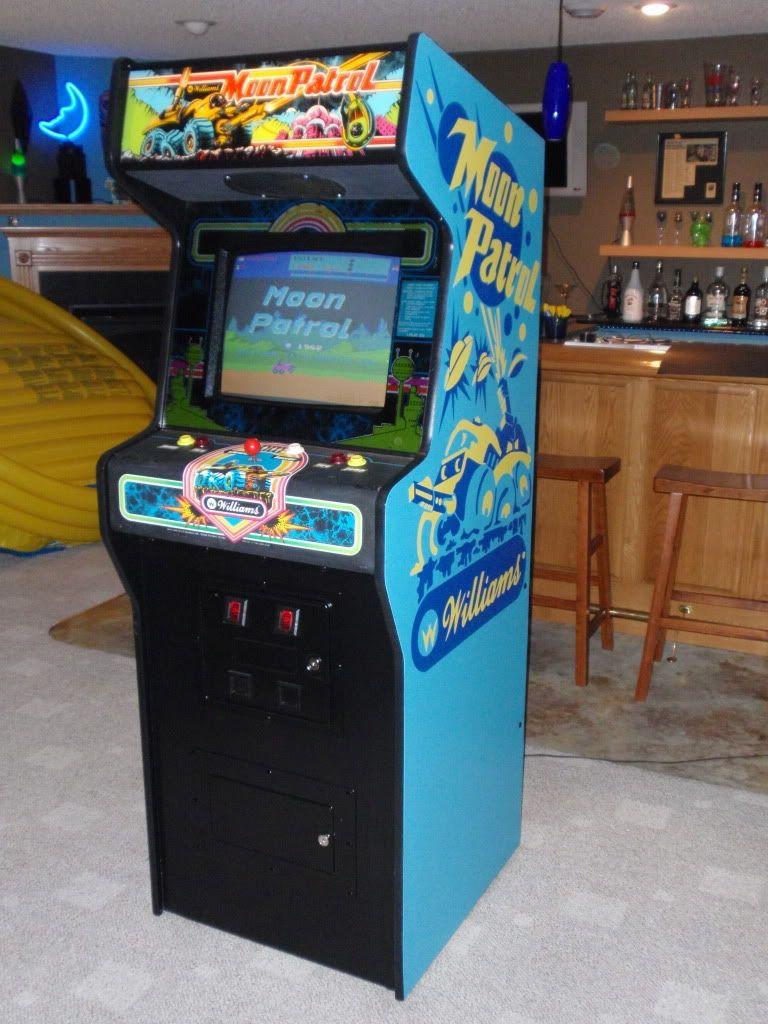 Maquina de arcade de Moon Patrol