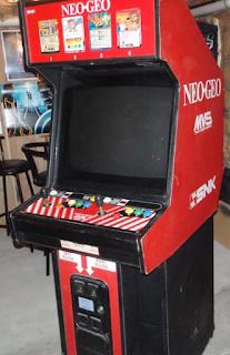 Uma maquina de arcade Neo Geo MVS